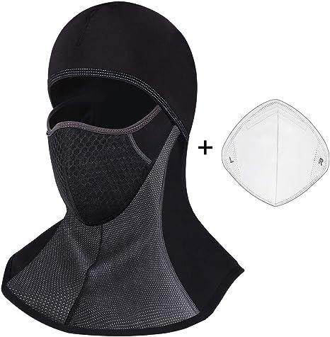 ROTTO Passamontagna Moto Balaclava Nero Sci Snowboard Bici Mask Impermeabile Termico A Prova di Vento Dimensioni Universali