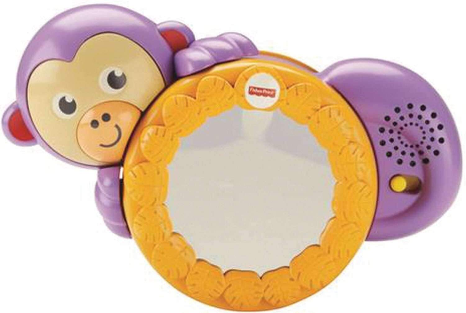 Fisher-Price Crawl Along Monkey, from Tummy Time to Bat-at Play and Crawl and Chase Fun with Fun Sounds, 3 Months Plus