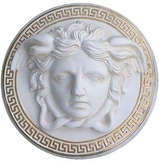 3D Medusa Relief Wandrelief Mäander Wandbild Bild Kopf Taler der Antike 2657 108