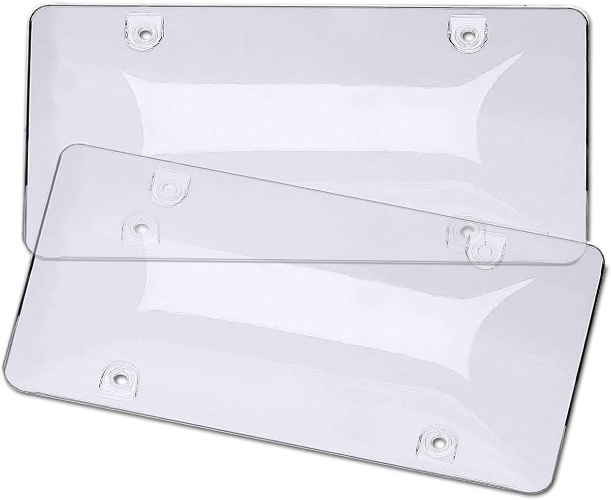 1PC LICENSE PLATE FRAME AND CLEAR ACRYLIC TOUGH SHIELD PROTECTOR COVER S6