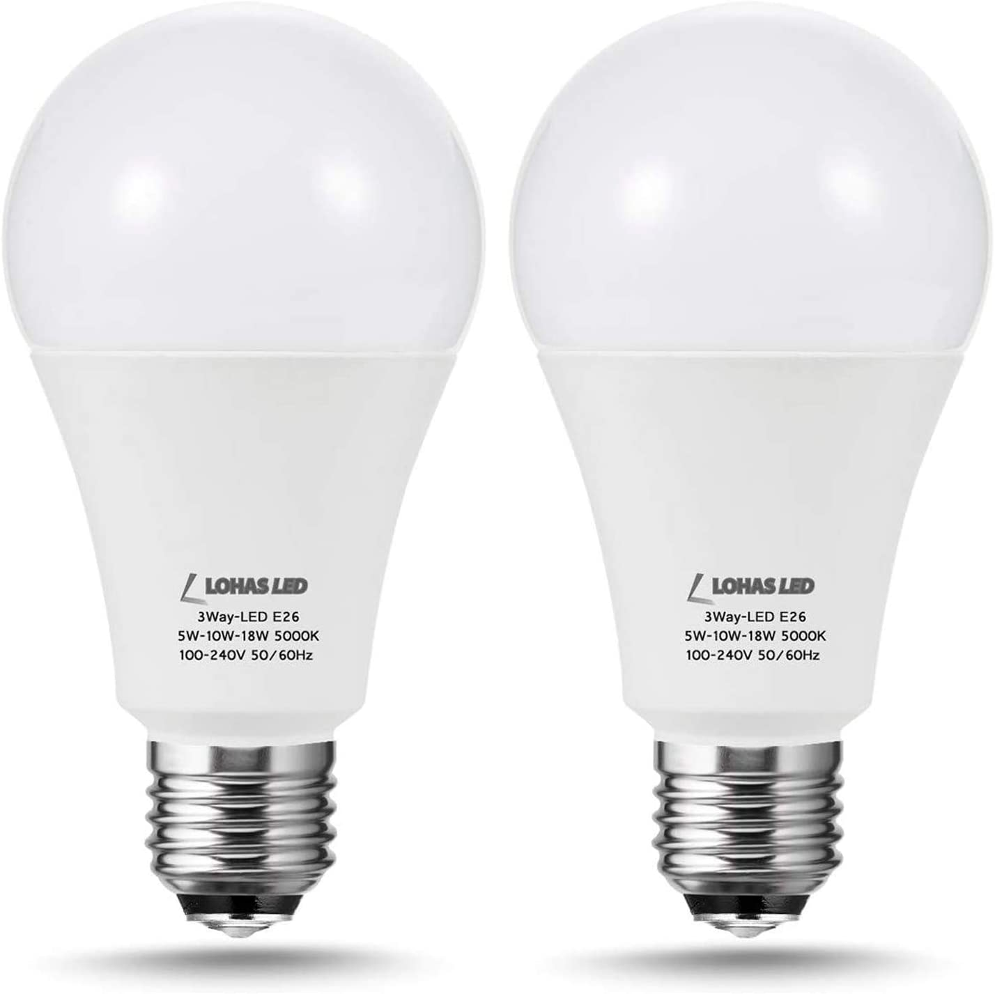 LOHAS 3-Way A21 LED Light Bulb