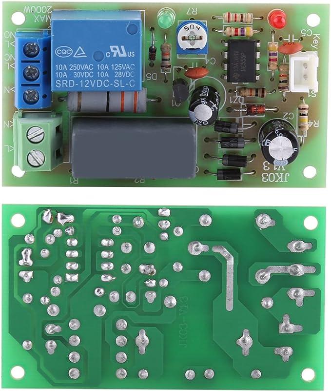 1s ~ 60s Akozon AC 220V Module de Relais de Minuterie de Temporisation/à D/éclenchement dentr/ée//Sortie
