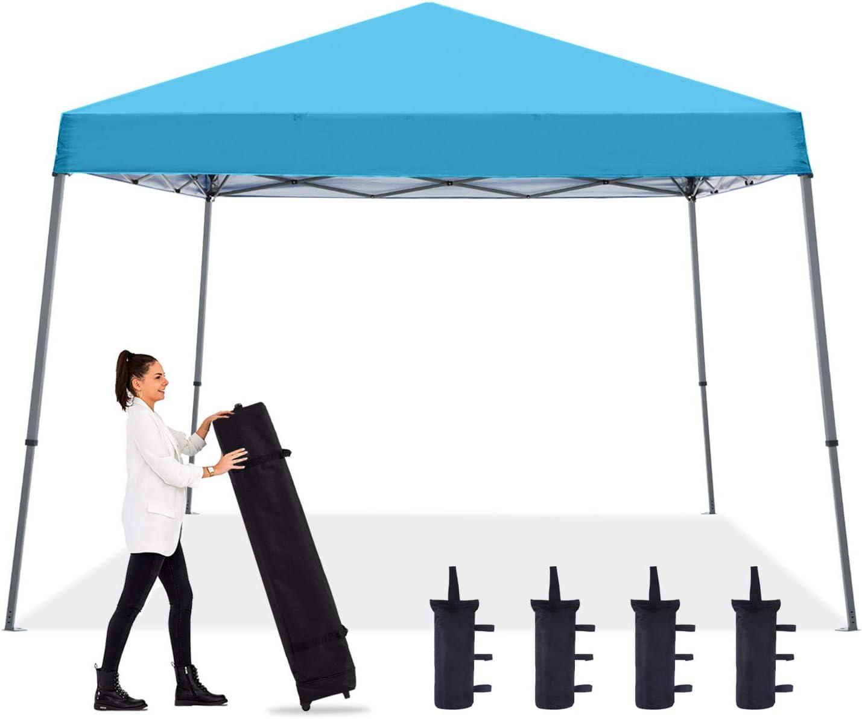 ABCCANOPY - Toldo plegable portátil con patas inclinadas (10 x 10 cm), color azul cielo