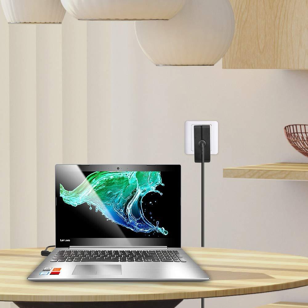 KFD 65W Adaptador Cargador Portátil para Lenovo IdeaPad 710s 510s 510 310 110 100 100s 330-15IGM 310-15ABR 110-15IBR 100-15IBD 80QQ 80T700BDSP Yoga ...
