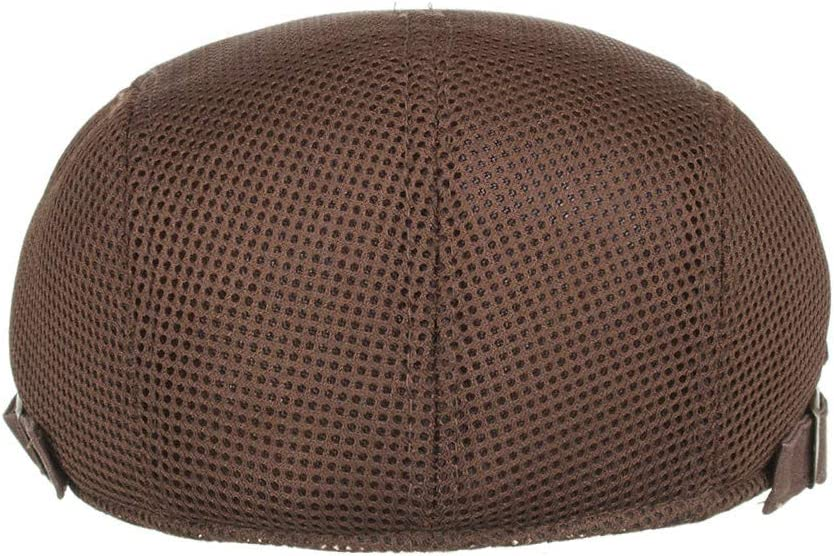 EuCoo Classique Cheveux Hommes Mode Tweed M/élange De Laine Gavroche Ivy Chapeau Casquette Plate Conduite Chasse R/églable Noir