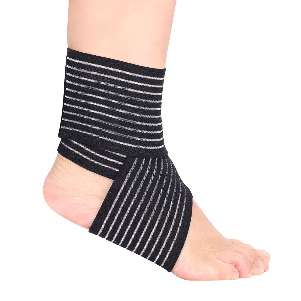 Sport Unisex Ankle Brace Compression Strap, Fitness Adjustable Elastic Breathable Support Non Slip Loop Sleeve Ankle Support Wraps for Ankle Sprain, Plantar Fasciitis, Injury Recovery