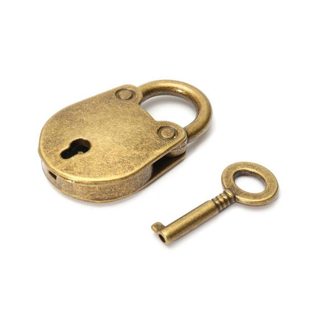 BleuMoo Old Vintage Antique Bronze Mini Padlocks With Keys