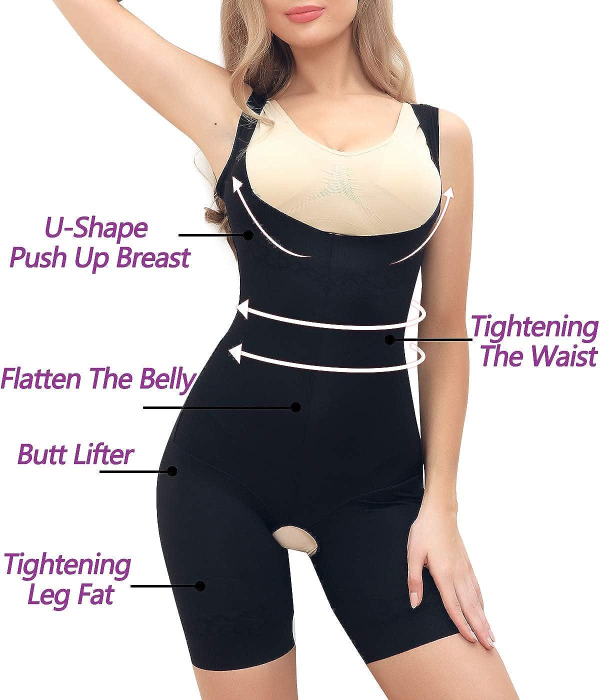 COMFREE Bodies Moldeadores para Mujer Sin Costuras Busto Abierto De Lencer/íA Moldeadora Body Reductor Postparto Invisible Shapewear Adelgazante