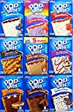 9 Pack! The Ultimate Pop Tarts Variety Pack of 9 Popular Pop Flavors + Gift Box + Gift Card + Sanitizing Hand Wipes. Bundle of 9- 8 Count Boxes, 1 of Each Flavor. Care Package, Gift Bag, Snack Pack