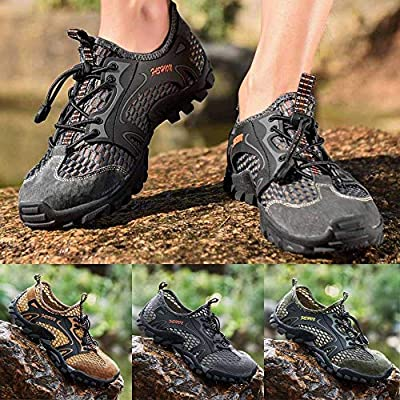 PLENTOP Men's Outdoor Hiking Shoes Sports Shoes Non-Slip Breathable Creek Shoes