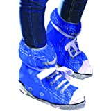 Retro Style Festival Feet Schuhbezüge in Rot oder Blau