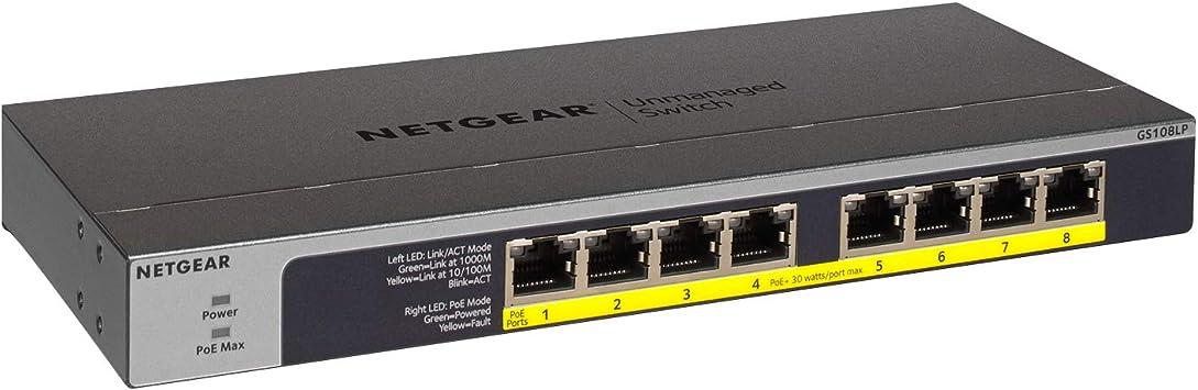 BRAND NEW Netgear GS108PE-300NAS ProSafe Plus 8-Port Gigabit Ethernet Switch