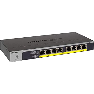 Netgear GS108LP Switch Gigabit con 8 Puertos PoE, Switch ethernet PoE de 60W actualizable, Switch PoE, Montaje sobremesa o Bastidor, Caja de Metal