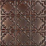 Casablanca-Faux Tin Ceiling Tile - Antique Copper 25-Pack
