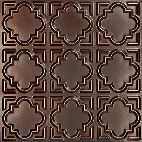 Casablanca-Faux Tin Ceiling Tile - Antique Copper 25-Pack by Decoraids
