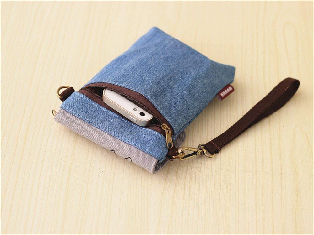 Abaddon Vintage Printed Handmade Women Mini Crossbody Bag Cellphone Pouch Small Handbag Coin Purse (blue totoro) by Abaddon (Image #6)