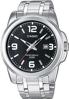 Casio Reloj Analógico para Hombre de Cuarzo con Correa en Acero Inoxidable MTP-1314PD-