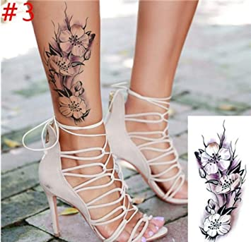 ba7bcff13 Amazon.com : 1PC New Fashion Removable Women Lady 3D Flowers Waterproof  Temporary Tattoo Stickers Beauty Body Art Easy Wear And Easy Clean : Beauty