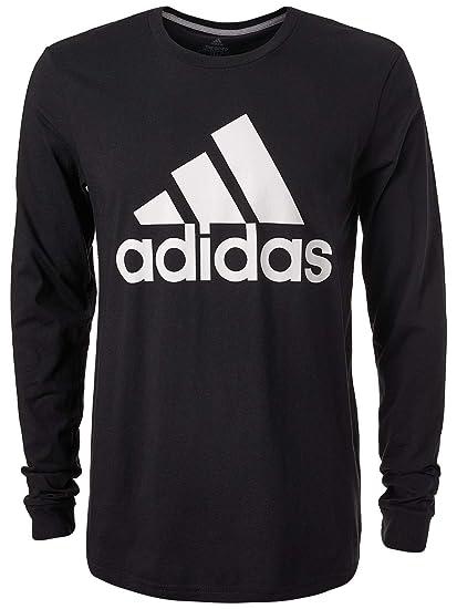 3695379559a adidas Men's Badge of Sport Classic Long-Sleeve Tee, Black/White, Medium