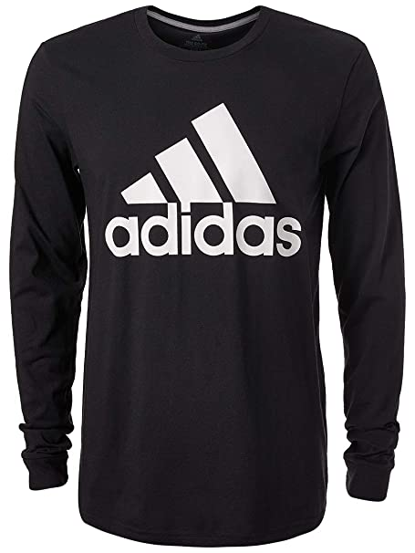 008d2bd27f14 adidas Men's Badge of Sport Classic Long-Sleeve tee, Black/White, Large