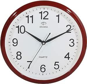 Dojana Wall Clock, DWG162 Red White