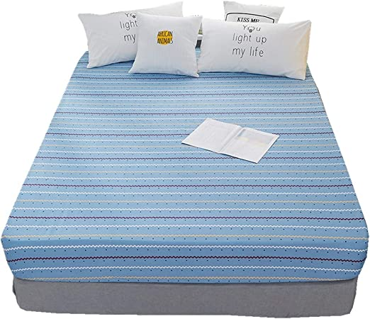Soft Fitted Sheets Bed Sheet Bedding Cover Deep Pocket Full Size Multicolor