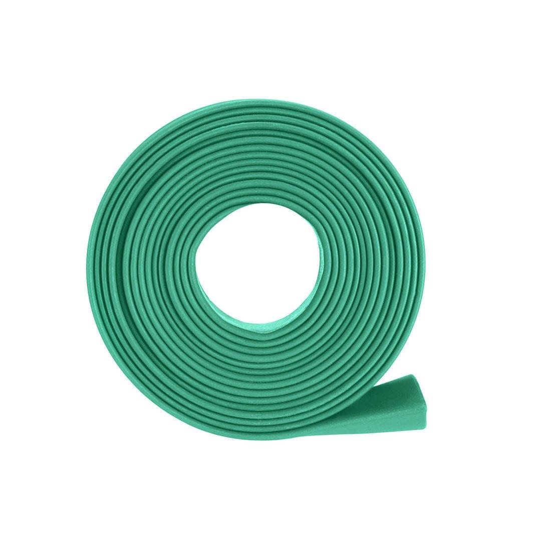 Sourcingmap Tubo termorretr/áctil 2:1 Tubo de aislamiento el/éctrico Cable Tubo de manguera Envoltura Verde 15 mm Di/ámetro 1 m Longitud
