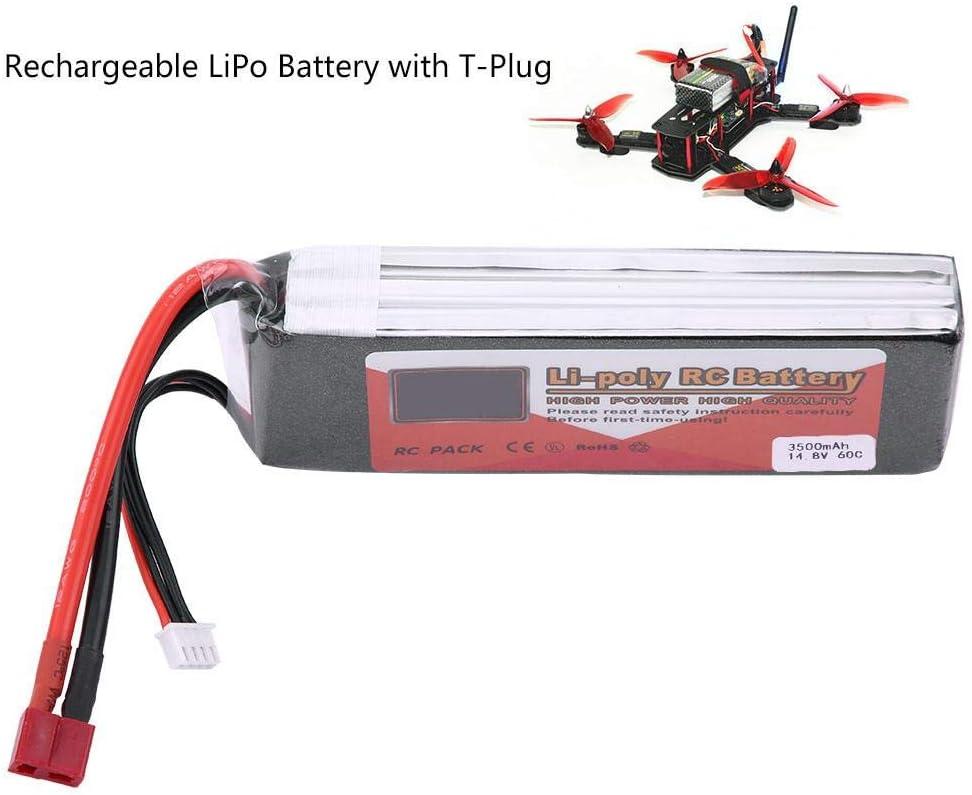 VGEBY1 Bater/ía RC LiPo bater/ía Recargable LiPo con Conector en T 14.8V 3500mAh 4500mAh 5500mAh