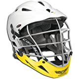 Cascade Mens Lacrosse Pro7 Helmet Pro-Fit SuperMono White/Yellow