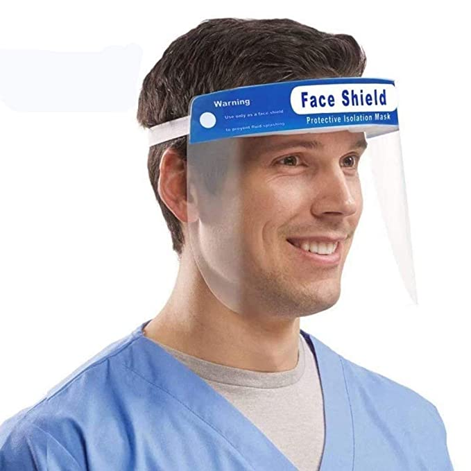 450 micron thickness for better protection 5 x Full Face Visor//shield PPE
