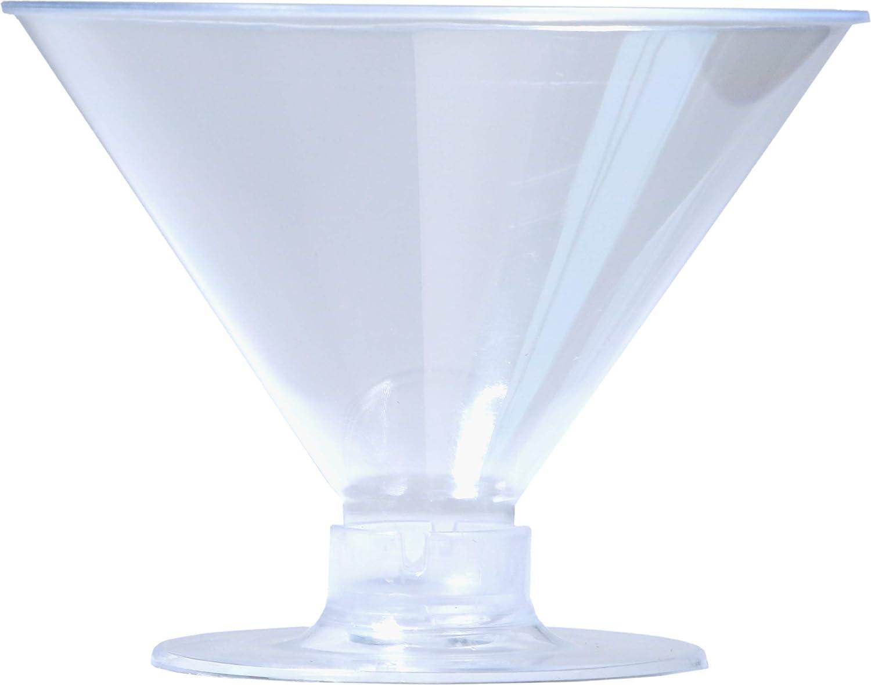 使い捨てプラスチックカップ シャンパンフルート 優れた品質 クリスタルクリア スムースリム 2ピースフルートベース 再利用可能 イベント 結婚式 卒業パーティー ピクニック 250個 Martini 500 クリア Martini 500  B07P12TNBB