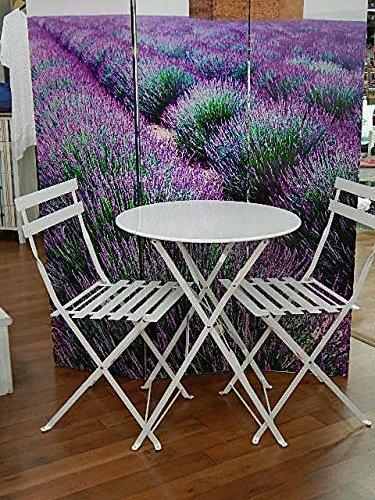 Juego Mesa de jardín + 2 sillas de hierro plegables: Amazon ...