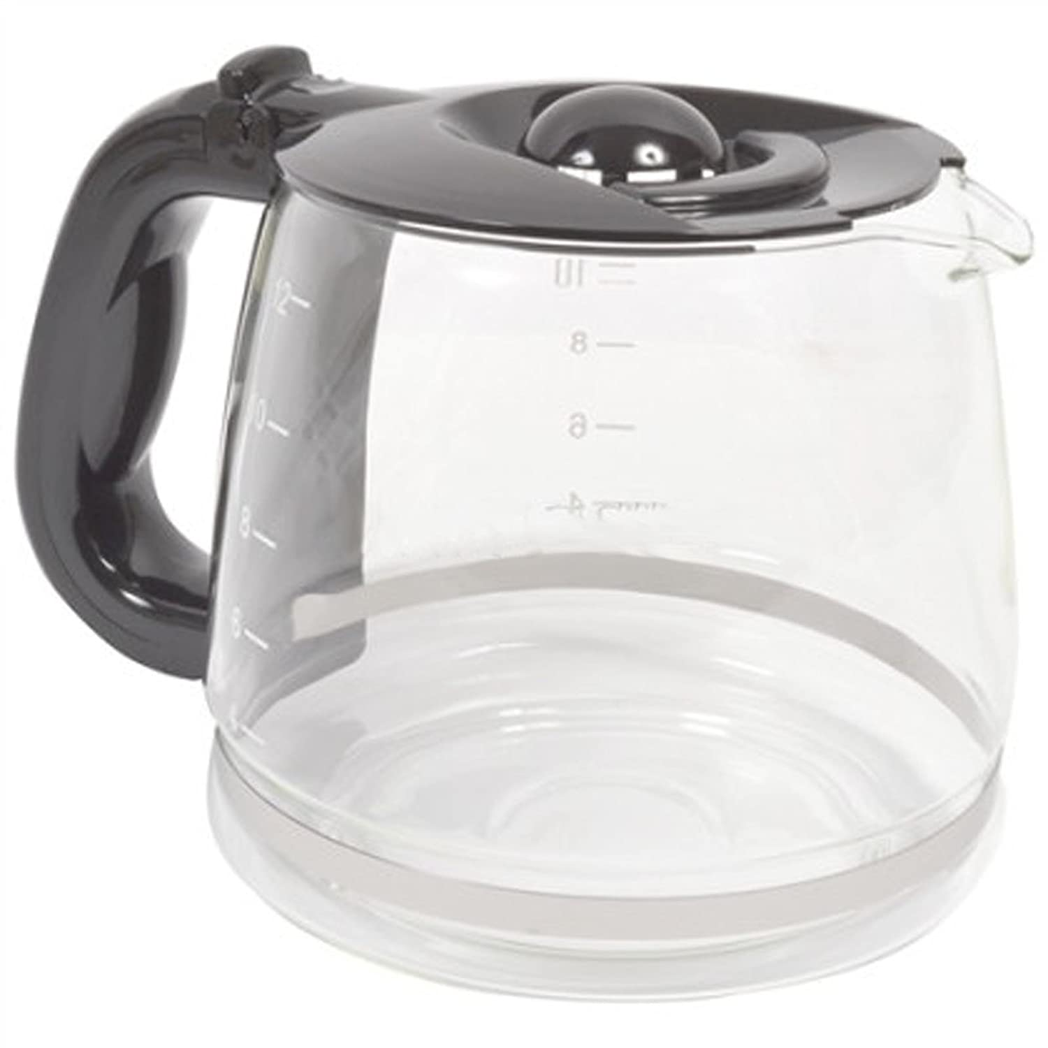 SPARES2GO Glass Jug Carafe for Russell Hobbs 12693-56 Futura Memo Coffee Machine