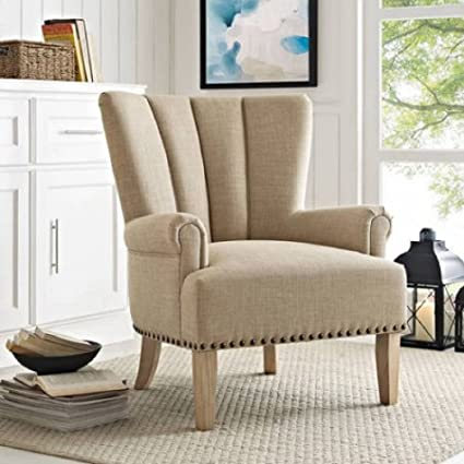 Amazoncom Better Homes And Gardens Roll Arm Accent Chair Beige