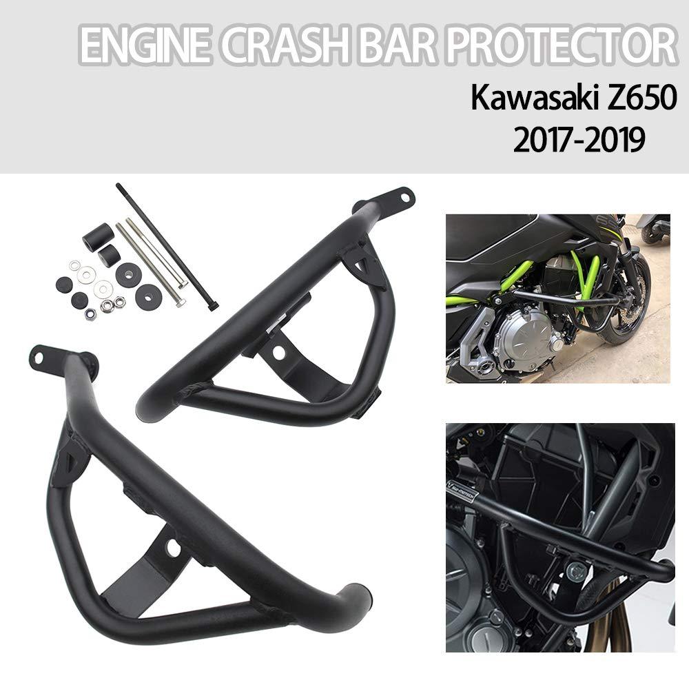 For Kawasaki Z650 Motorcycle Crash Bar Engine Guard Frame Sliders Bumper Protector Highway Bars For 2017 2018 2019 Black