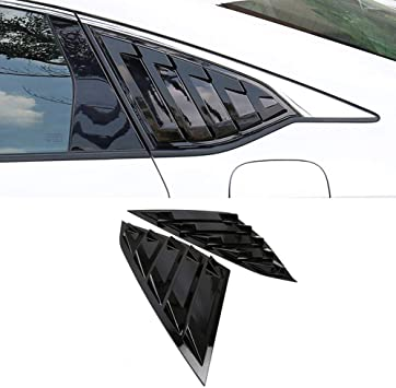 IKON Style,Rear /& Side Quarter Scoop Louvers IKON MOTORSPORTS Window Louver Compatible With 2016-2020 Honda Civic Sedan
