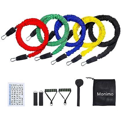 Amazon.com: Monimo - Bandas de resistencia de látex, 12 ...