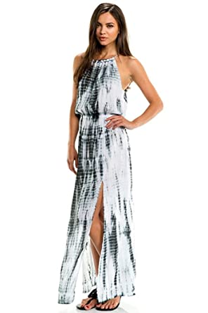 Elan Women&39s Snake Print Tie Dye Maxi Dress at Amazon Women&39s ...