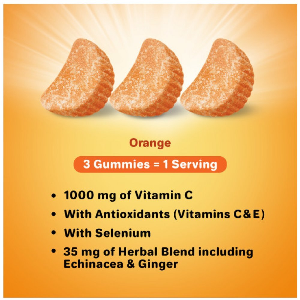 Airborne Orange Flavored Gummies, 63 Count - 1000mg of Vitamin C and Minerals & Herbs Immune Support (Pack of 7) by Airborne (Image #4)