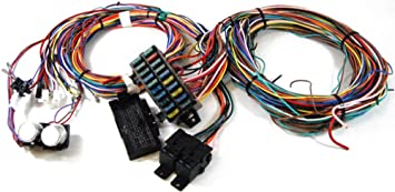 amazon com pirate mfg complete universal 12v 24 circuit 20  hot rod fuse box wiring diagrams