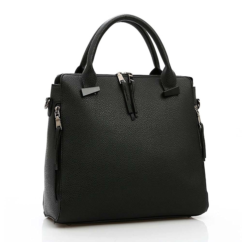 ATOLO Large PU Handbag (Black)