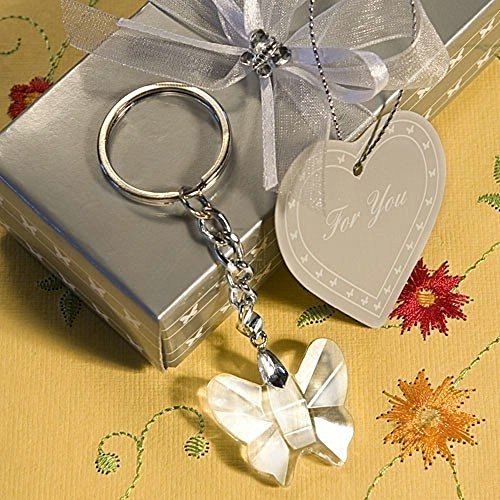 Crystal Butterfly Keychain Favors (Choice Crystal Butterfly Design Key Chains)