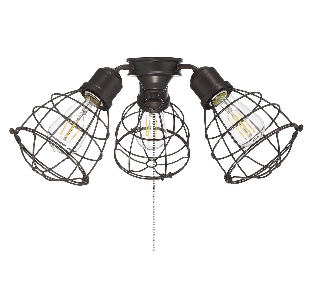 Savoy House Heath 18.9'' 3-Light Fan Light Kit in English Bronze