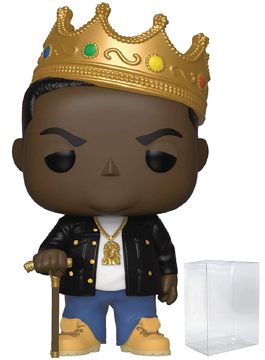 with Crown Pop Notorious B.I.G Includes Compatible Pop Box Protector Case Funko Rocks: Music Vinyl Figure