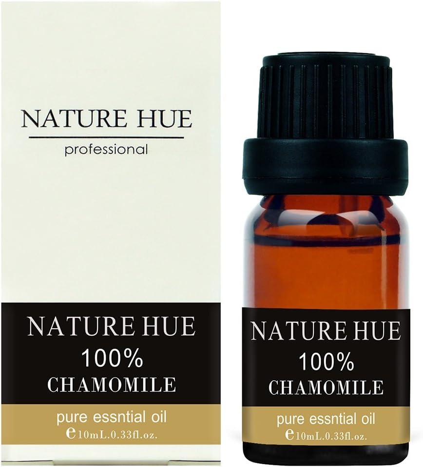 Nature Hue - Chamomile Roman Essential Oil 10 ml, 100% Pure Therapeutic Grade, Undiluted