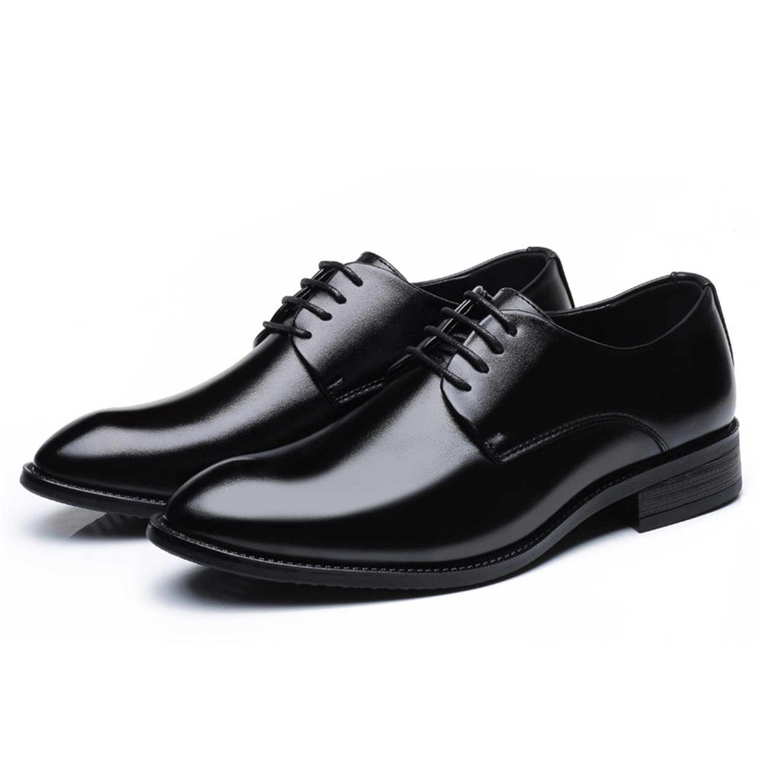 Amazon.com | Wanyesta Classic Pointed Toe Dress Shoes Mens Patent Leather Black Wedding Shoes Oxford Formal Shoes | Oxfords