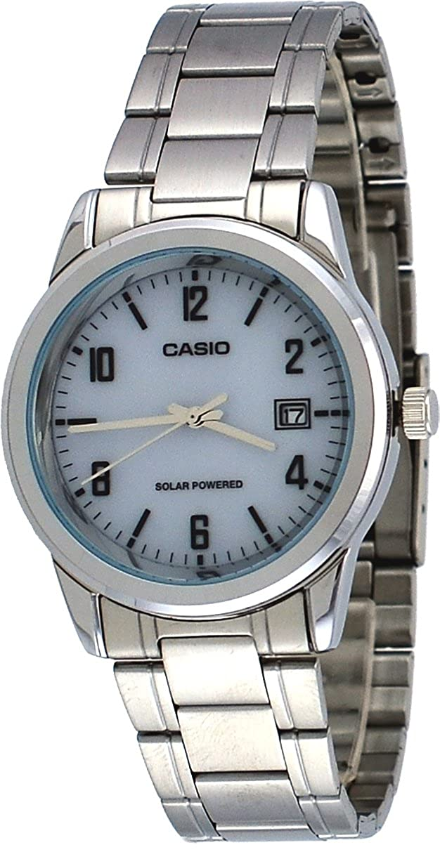 Amazon.com: Casio MTP-VS01D-7B Mens Standard Solar Powered Stainless Steel Date Watch: Watches