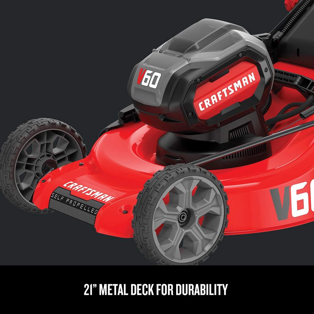 Self Propelled 7.5-Ah CMCMW270Z1 CRAFTSMAN V60 Cordless Lawn Mower