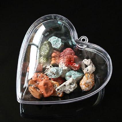 Yontree - Bola hueca de plástico, caja de caramelos para adornar el á