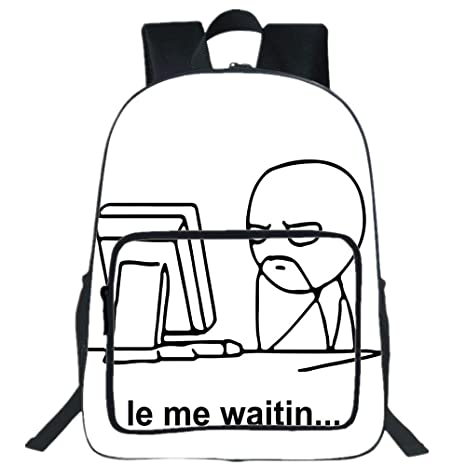 Amazoncom Iprint 19 Large Casual Backpackhumor Decorstickman